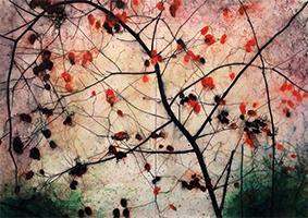 altalanghe dogrose # 22 watercolour 100 x 140 cm 2014