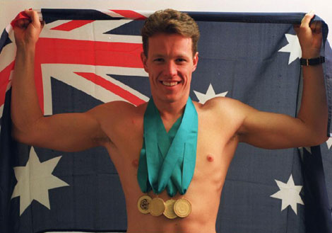 Multi-winning, world record holder Kieren Perkins (photo courtesy of zwemza.com)