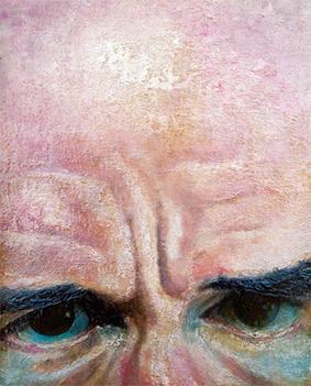 molenbeersel selfportrait # 15 oilpaint on mdf 50 x 40 cm 2012