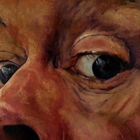 noceto selfportrait # 22 oilpaint on MDF 40 x 40 cm 2014