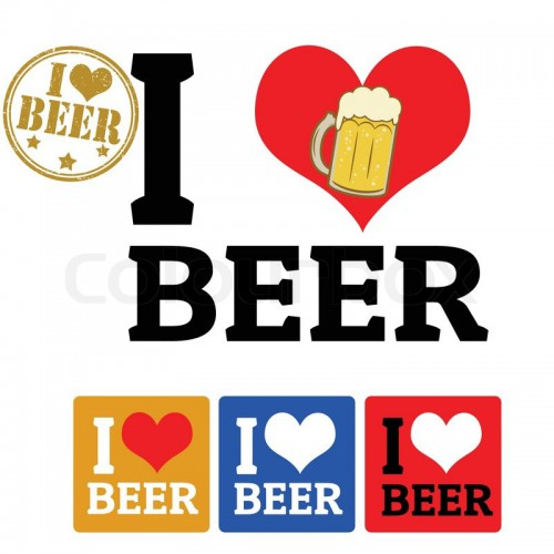 7836739-i-love-beer-sign-and-labels-on-white-background-vector-illustration